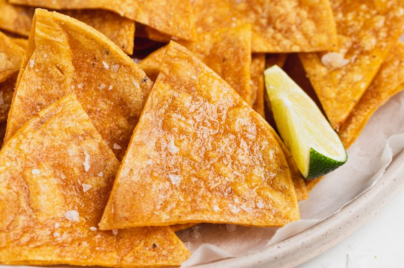 Gluten-Free Baked Tortilla Chips with a Hint of Lime