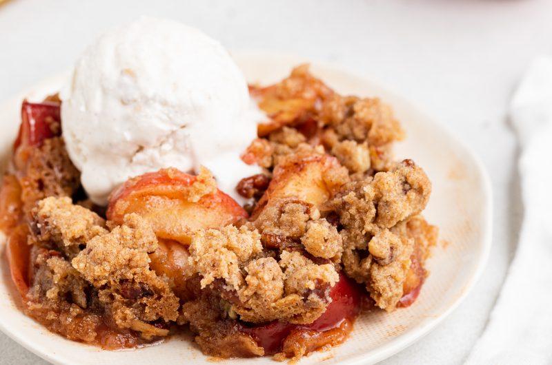 Apple Crisp Recipe Without Oats (Vegan, Gluten-Free)