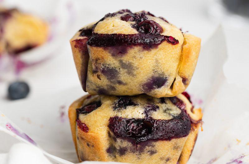Gluten-Free Blueberry Muffins (Dairy-Free, Grain-Free)