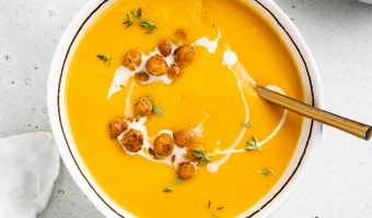 Vegan Acorn Squash Soup